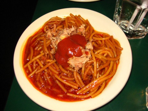 Barbecue spaghetti, The Bar-b-que Shop, Memphis